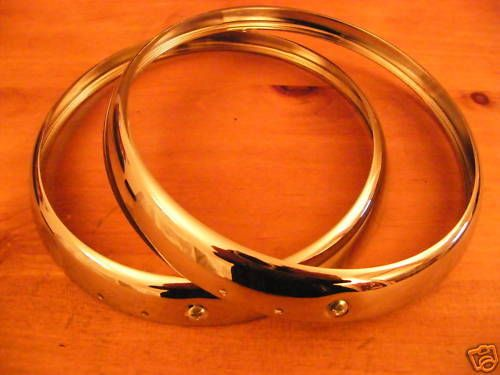 ARMSTRONG SIDDELEY SAPPHIRE 234 CHROME HEADLAMP RIMS X 2 (FREE UK POST)